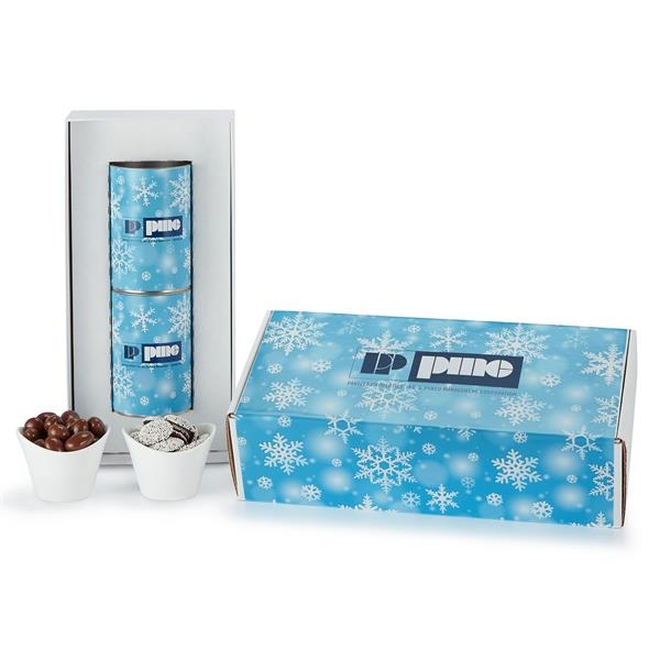 2 Way Snack Tube Gift Sets in Mailer Box
