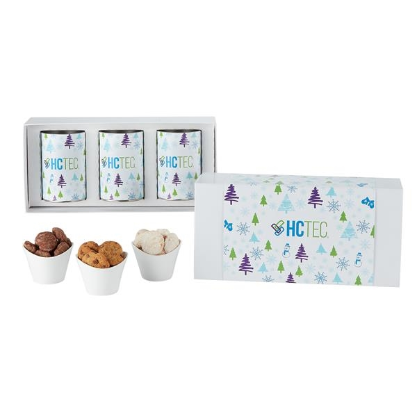 """3 Way 4"""" Cookie Gift Tube Sets in Gift Box"""