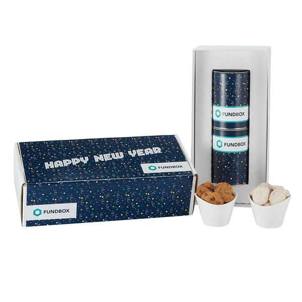 """2 Way 4"""" Cookie Gift Tube Sets in Mailer Box"""