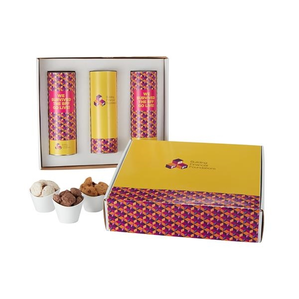 "3 Way 8"" Cookie Gift Tube Sets in Mailer Box"