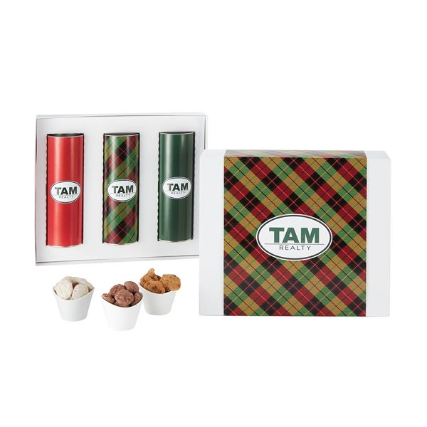 """3 Way 8"""" Cookie Gift Tube Sets in Gift Box"""
