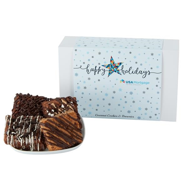 Medium Gift Box of 12 Assorted Brownies