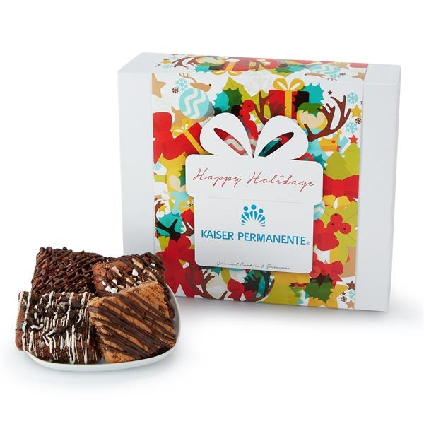 Large Gift Box of 18 Assorted Brownies