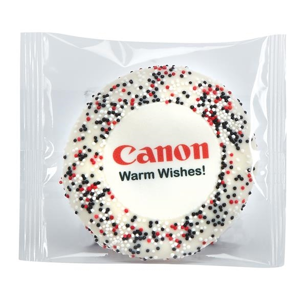 Wrapped Sugar Cookie - Corporate Color Nonpareil Sprinkles