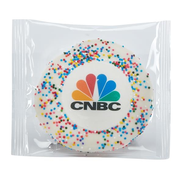 Wrapped Sugar Cookie - Rainbow Nonpareil Sprinkles
