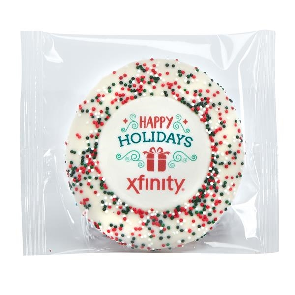 Wrapped Sugar Cookie - Holiday Nonpareil Sprinkles