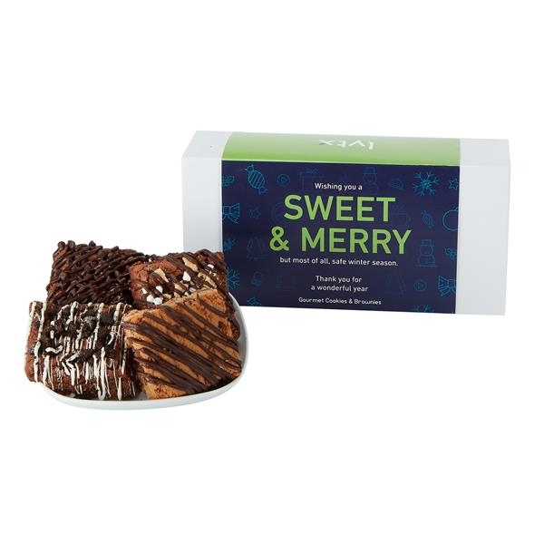 Small Gift Box of 6 Assorted Brownies