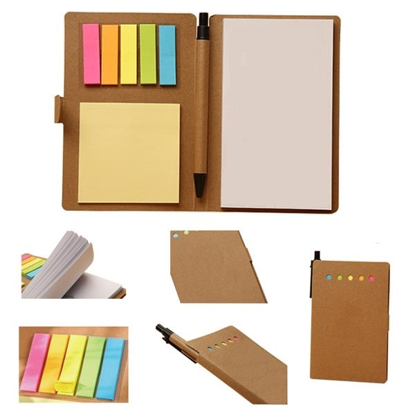 Kraft Paper Combination it notes Notebook With Pen