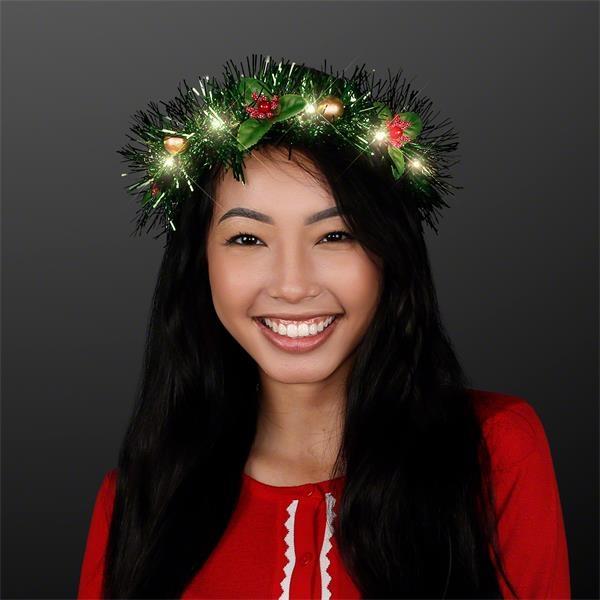 Christmas Crown Light Up Hair Wreath