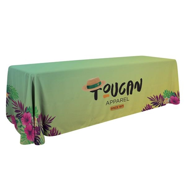 8' Economy Table Throw (Dye Sublimation, Full Bleed)