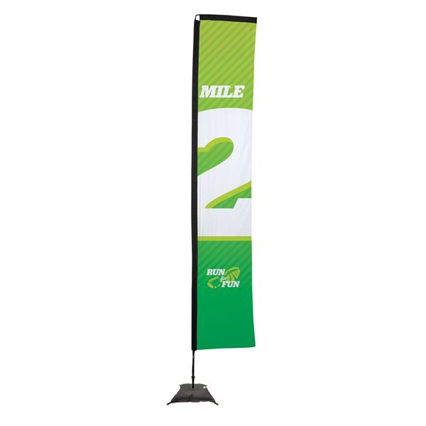 14.5' Premium Rectangle Sail Sign, 1-Sided, Scissor Base