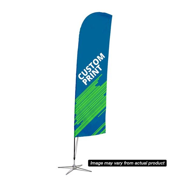 7' Streamline Blade Sail Sign, 2-Sided, Scissor Base
