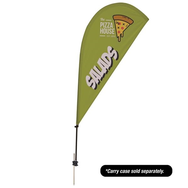 6.5' Value Teardrop Sail Sign - 1-Sided with Ground Spike