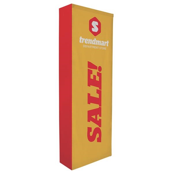3' Straight Splash Floor Display Wrap Kit (Poly Knit)