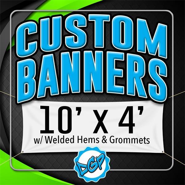 Custom Full Color, Vinyl Banner - 10' x 4'