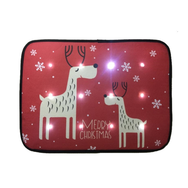 Christmas musical LED light doormat