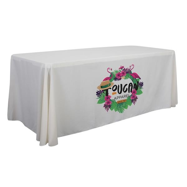 6' Economy Table Throw (Dye Sublimation, Front Only)