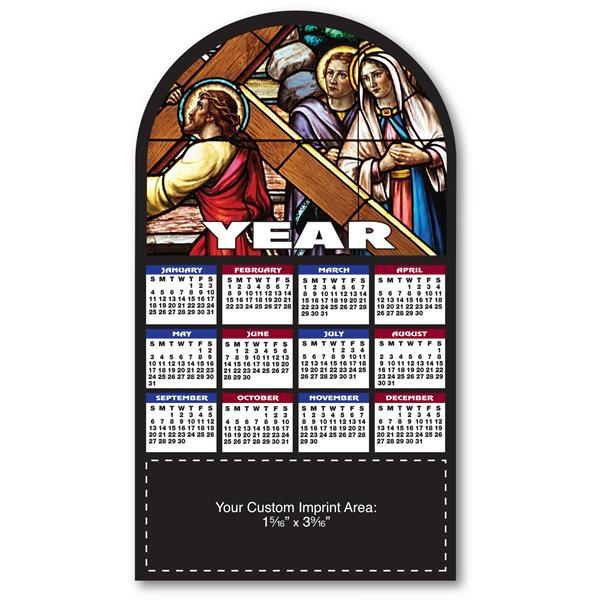 Stained Glass Calendar Shape