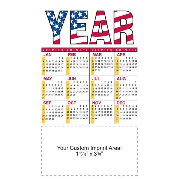 "4"" x 7"" Large Magnetic Calendar 20 Mil."