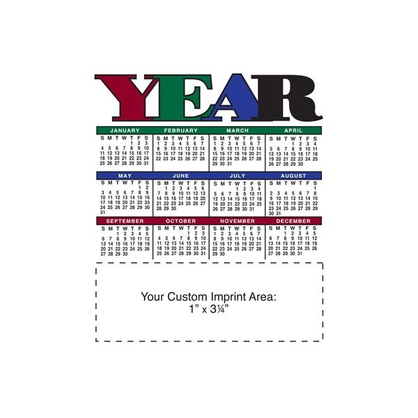 """3 1/2"""" x 4"""" Small Magnetic Calendars 30 Mil."""