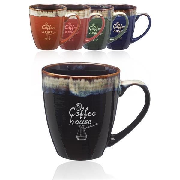 17 oz Water Color Drip Ceramic Mug