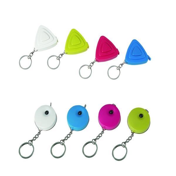 Promotional gift mini round triangle cartoon shape retractab