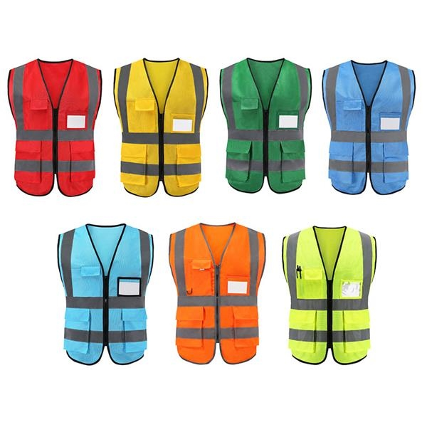 Reflective Vests With 4 Pockets