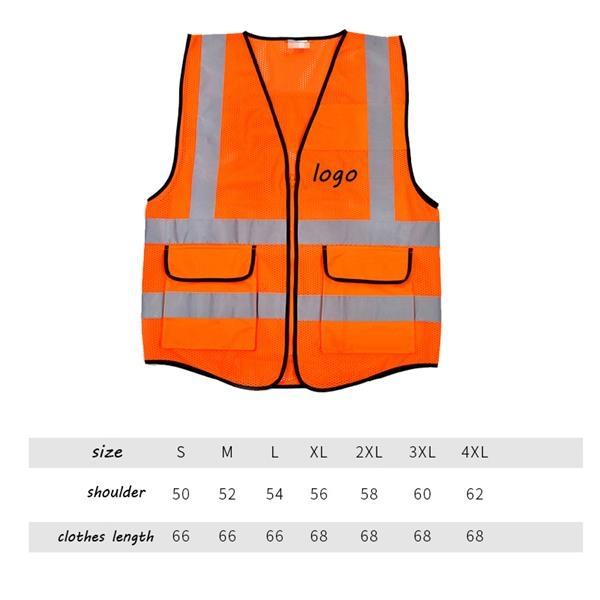 Reflective Vest With 2 Pockets