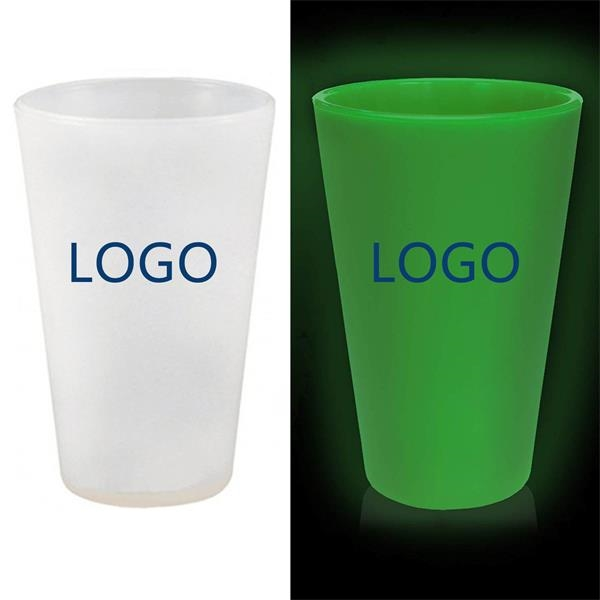 Glow Silicone Wine Glasses Red And White Drinkware With 16oz