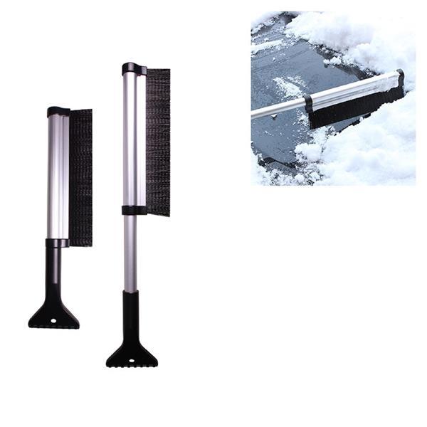 Telescopic Aluminum Handle Ice Scraper with Brush