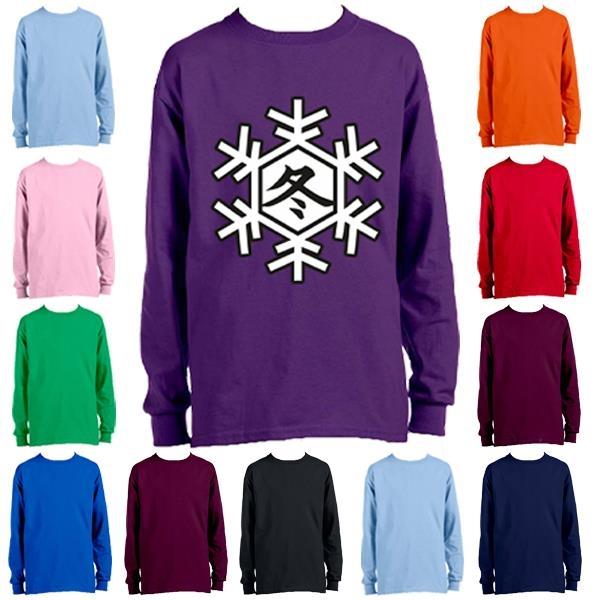 Youth Long Sleeve Winter T-Shirt 6.1 oz Boys Sweatshirt