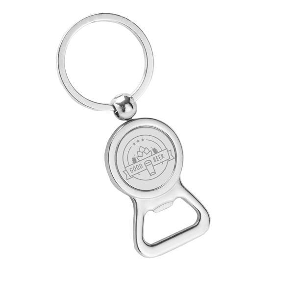 Polished Chrome Bottle Opener Keychains