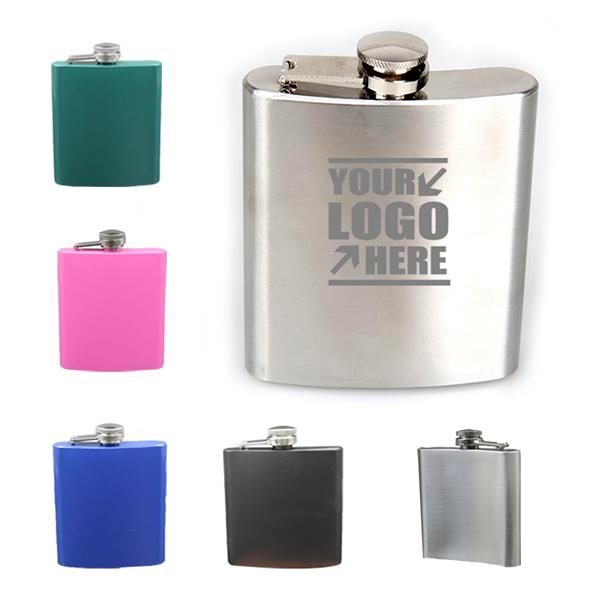 Portable 6 Oz. Stainless Steel Flask