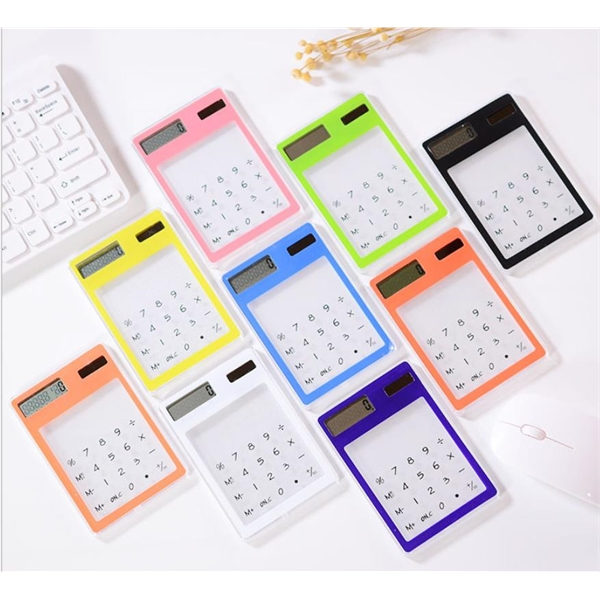 Solar powered 8 digital portable calculator