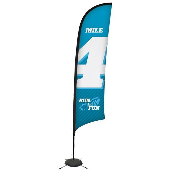 13' Premium Razor Sail Sign, 1-Sided, Scissor Base
