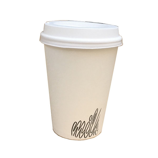 White Hot and Cold Custom Paper Cups - 12 oz.