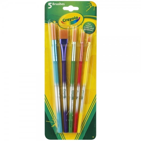 Crayola 5-Count Assorted Paintbrushes