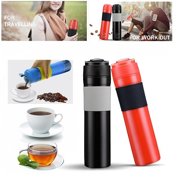 Travel French Press Coffee Maker Bottle