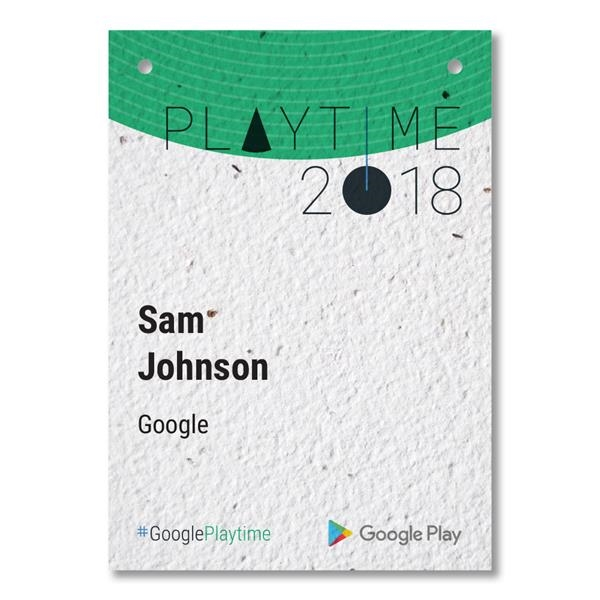 Seed Paper Name Badge, 4.13x5.83