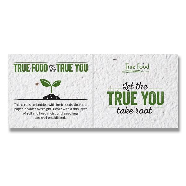 Small Seed Paper Folding Business Card