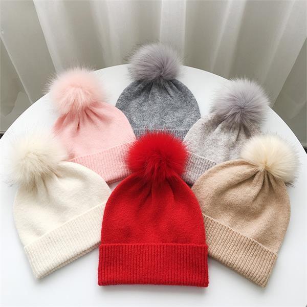 Winter Knitted Hat Women