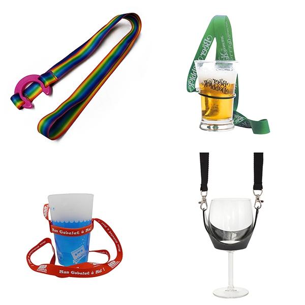 Hands free Beverage Lanyard goblet lanyard holder