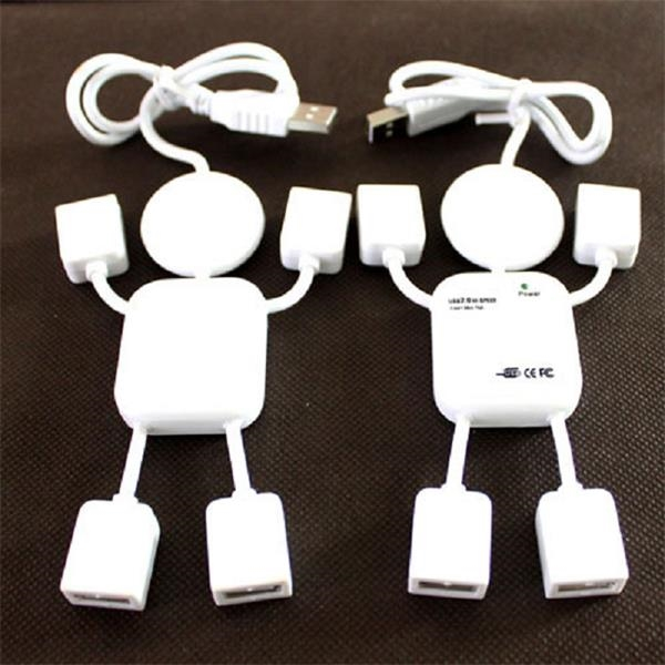 Human Shape White 4 in 1 USB Hub