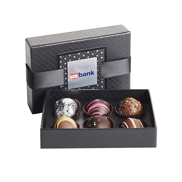6 Piece Belgian Chocolate Signature Truffle Box