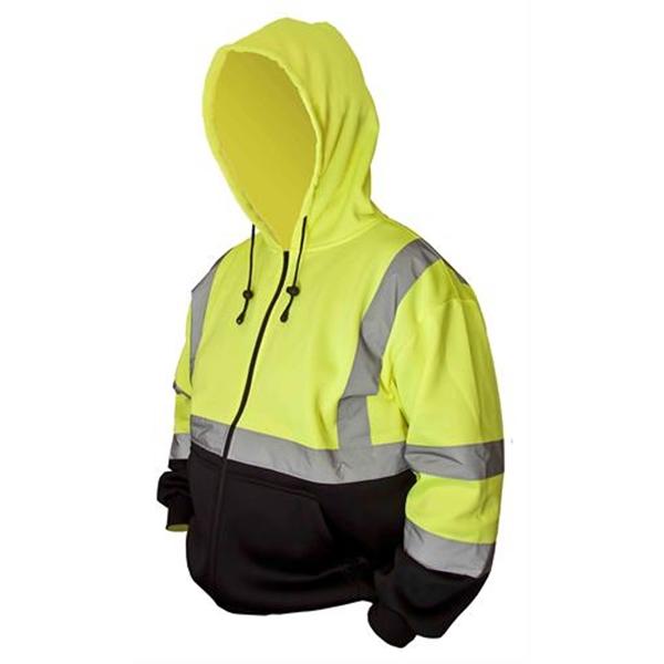 Forester® Hi Vis Zip-Up Two Tone Hooded Sweatshirt
