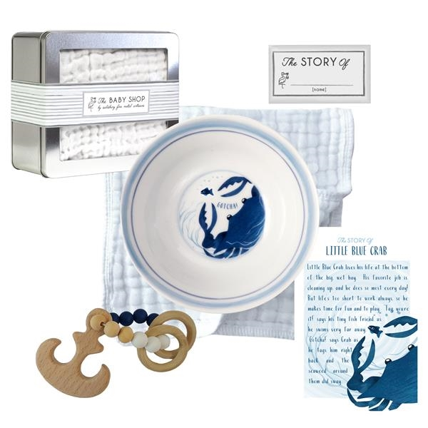 Little Blue Crab Bowl and Teether Set