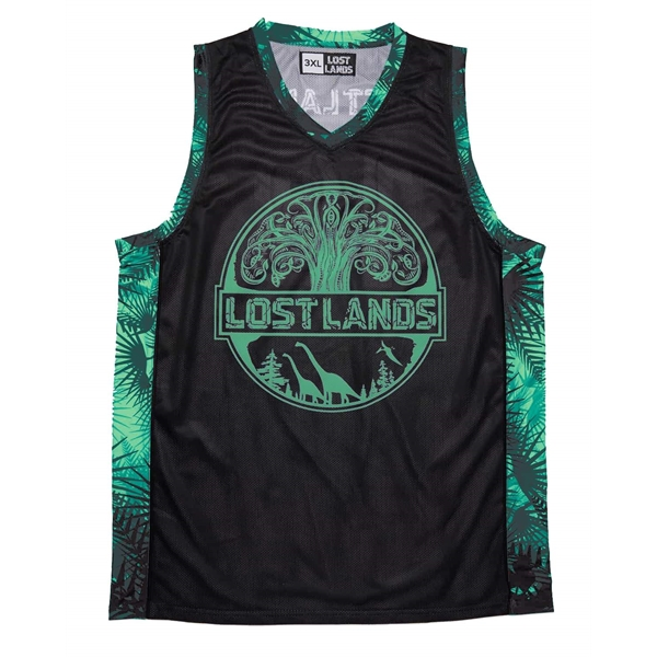 Sublimated Dry Fit Custom Youth Reversible Basketball Tops
