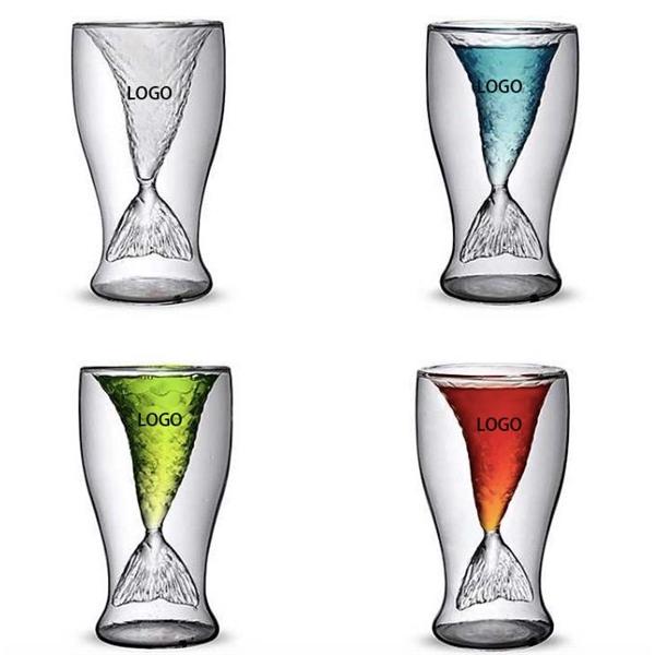 Creative Mermaid Tail Ice Cream Juice Glass Cup