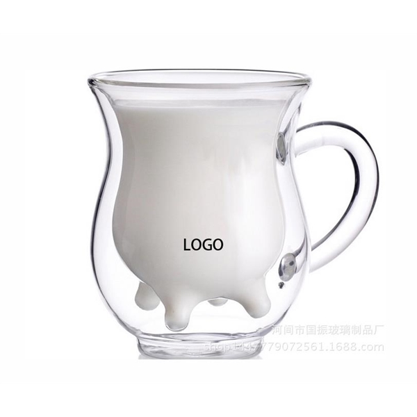 Creative Double Layer Cow Milk Cup