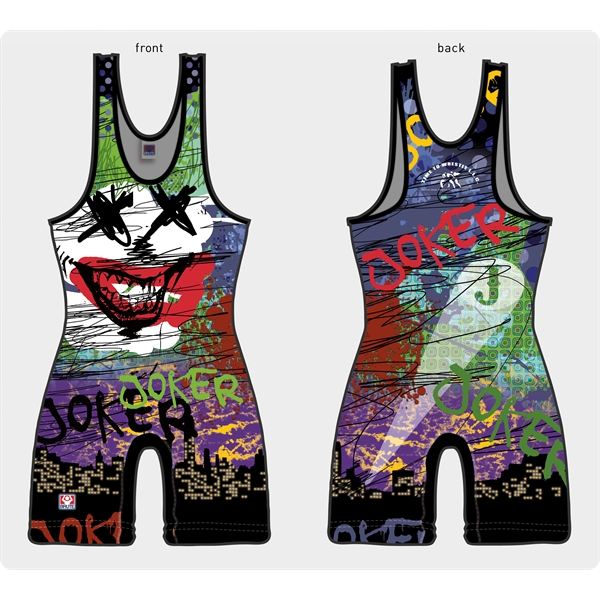 Sublimated Dry Fit Custom Youth Wrestling Singlets
